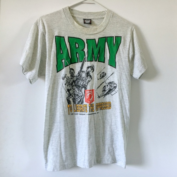 430aa50d Screen Stars Best Shirts | Vintage Early 90s Army Tshirt The Last ...